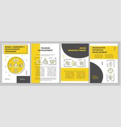 Tourism development brochure template vector