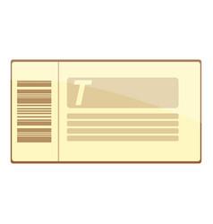 Train ticket icon cartoon style vector