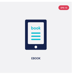 Two color ebook icon from literature concept vector