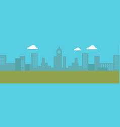 urban cityscape silhouettes buildings vector image