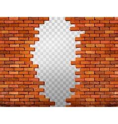 Brick Hole Vintage Wall Vector Images 52