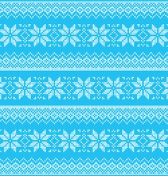 Winter Christmas blue seamless pixelated pattern vector image vector image
