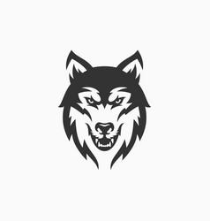 wolf mascot logo design vector image
