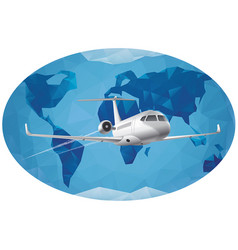 World air journey vector