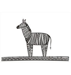 Zebra black vector