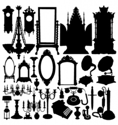 antique furniture and objects vector image