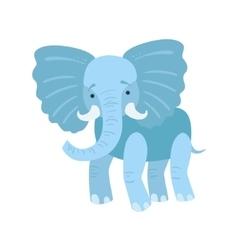 Elephant Stylized Childish Drawing vector image