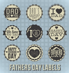 Happy Fathers Day Labels vector image vector image