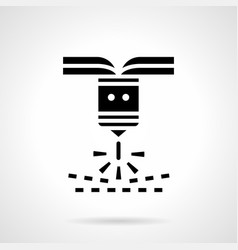 industrial plasma cutting glyph style icon vector image