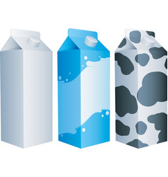 milk packs vector image vector image