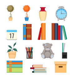 set of office accessories vector image vector image