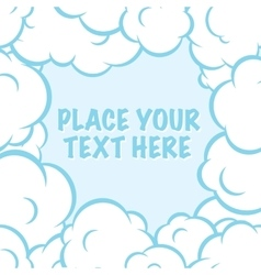 Cartoon pop art clouds frame white and blue vector image vector image