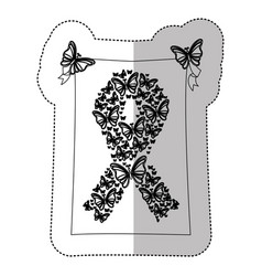 figure breast cancer butterflys icon vector image vector image