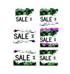 selling faceted poster colorful vector image vector image