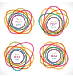 Set of colorful round abstract banners vector image vector image