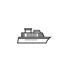 ship and cruise line icon navigation vector image vector image
