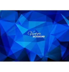 Blue business triangular background vector image