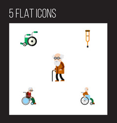 flat icon handicapped set of equipment vector image vector image