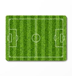 Green grass soccer field vector image vector image