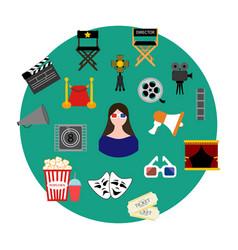 movie set vector image vector image