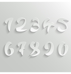 Set of 3d White Calligraphic Numbers vector image vector image