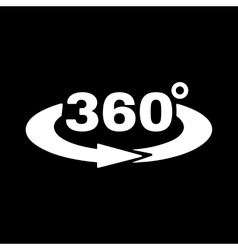 The Angle 360 degrees icon Rotation symbol Flat vector image