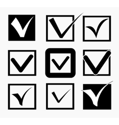 Check icons set vector image