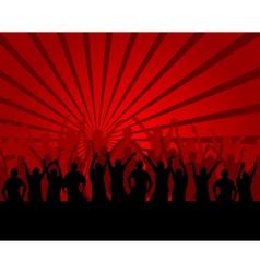 people celebrating vector image