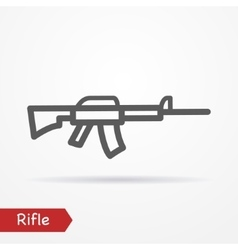 Rifle silhouette icon vector image vector image