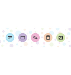 5 appointment icons vector