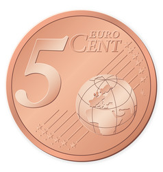5 euro cent vector image