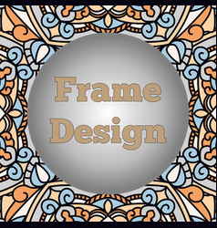 A frame with a beautiful oriental ornament with a vector