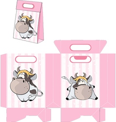 A small cow Handbag packages pattern vector image