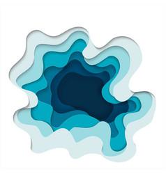 Abstract elements paper art concept art vector