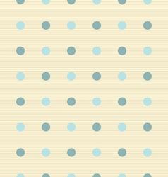 abstract retro seamless polka dot background vector image