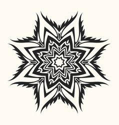 abstract round symmetrical pattern vector image