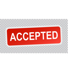 accepted stamp flat vector image