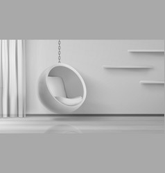 ball chair round armchair hang on chain at home vector image