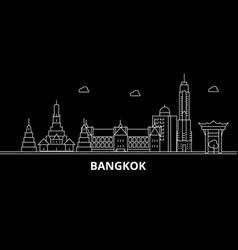 Bangkok silhouette skyline thailand - bangkok vector