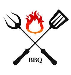 barbecue fork and spatula vector image