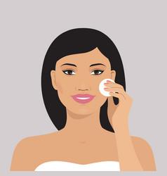 beautiful asian woman vector image