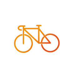 bicycle sport gym fitness gradient line vector image
