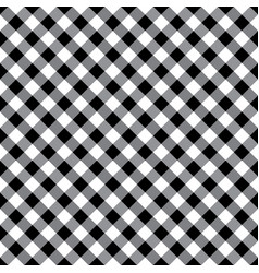 Black and white argyle tablecloth seamless pattern vector