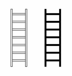 black and white ladders vector image