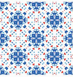 blue flower pattern boho background vector image