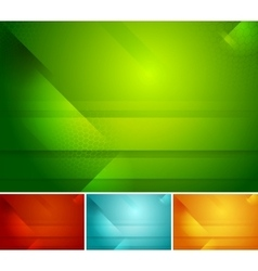 Bright abstract tech backgrounds vector