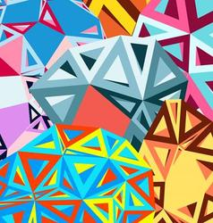 bright beautiful set of different shapes vector image vector image