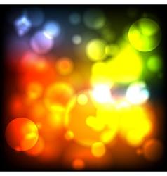 Bright iridescent lights vector
