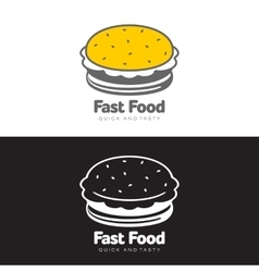 Burger logo set vector