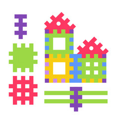 Childish toy composed small details to build vector